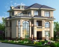 2019年新款AT1856楼中楼三层豪华大气欧式别墅设计图纸12.6mX10m