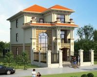 2020年新款别墅AT1866新农村三层楼中楼小开间别墅全套图纸8mX19m