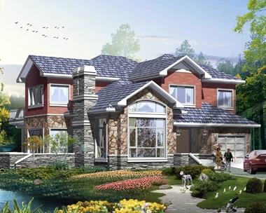 2020新款AT1868二层简洁大方美式风格别墅设计图纸14.7mX14.7m