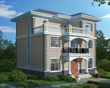 2020年新款AT1832农村别墅三层楼房简约大方别墅全套图纸11.2mX11m