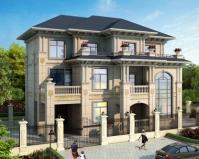 2020新AT1873三层豪华挂大理石材欧式楼中楼别墅设计图纸17mX12m