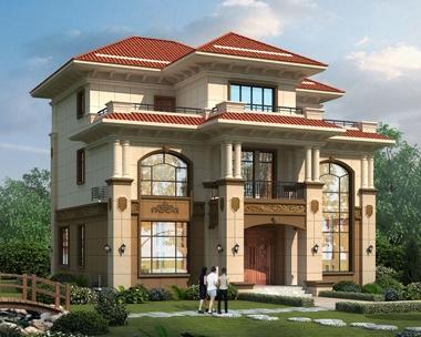 2020新款AT1876占地156平米三层复式别墅设计施工图纸13.6mX13m