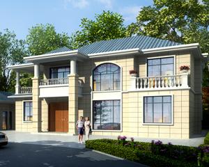 【带装修图纸】AT1880二层简约大方乡村风情别墅设计施工图纸18.5mX12.3m