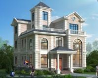 2020新品上市AT1910沉稳大方简欧风格三层别墅设计图纸11.3mX13.2m