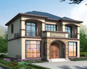 2020款新中式简约大方AT1877二层左右对称别墅设计图11.5mx10.5m