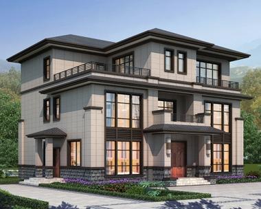 AT1913三层优雅大气新中式别墅设计全套施工图纸14.5mX12.3m