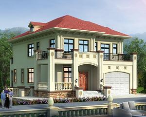 AT1916坡地二层带下沉庭院及地下室复式楼别墅设计施工图纸13.1mX18m