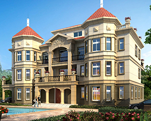 AT1768四层高端大气复式楼中楼干挂石材大型别墅设计全套图纸26.4X15.5