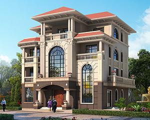 四层带佛堂复式高端石材别墅施工设计图纸16m×16.8米 #AT218