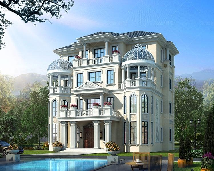 带电梯190平米邵阳三兄弟共建4层豪华欧式别墅