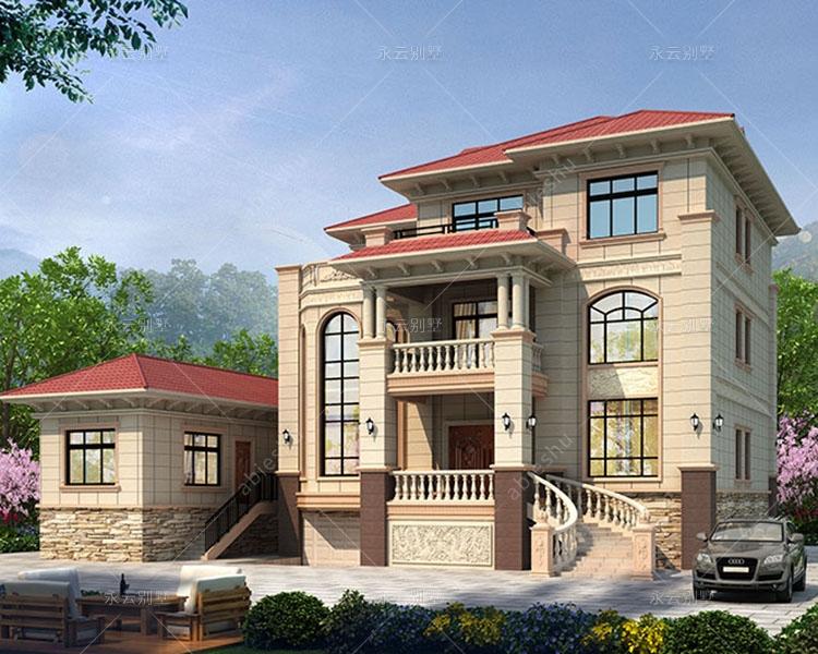 复式客厅/带副楼及架空层/简欧风格漂亮三层楼别墅