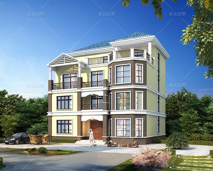 四层带电梯实用户型潮汕地区别墅定制设计案例