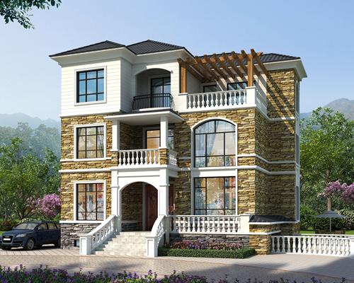 杭州西湖区带地下室优雅别墅挑空客厅自建别墅案例