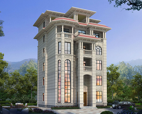 广东佛山南海占地146平米6层私家别墅自建房屋设计案例
